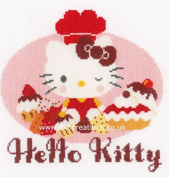 Hello Kitty  Pie Baking Cross Stitch Kit